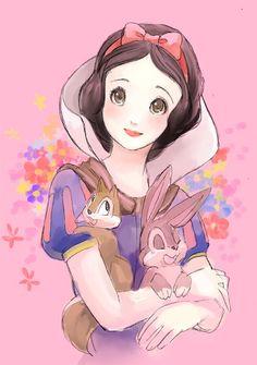 Kawaii as a Car Crash .Snow White >u< she is so adorable OMG I cannot stand it o-o soooooooooooooooooooooooooooooooooooooooooooooooooooooooooo cuteeeeeeeeeeeeeeeeeeeeeeeeeeeeeeeeee Disney Princess Snow White, Snow White Disney, Disney Princess Art, Disney Princess Pictures, Disney Fan Art, Disney Pictures, Disney Kunst, Arte Disney, Disney Magic