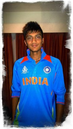 Akshar Patel Wear Indian Jersy