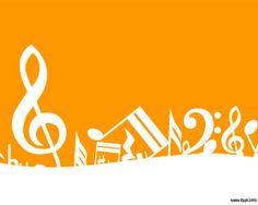 Melody PowerPoint is a PPT template with music notes over an orange background