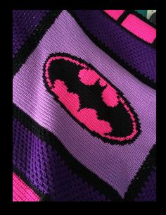 Batman Crochet Blanket in Pink and Purple!