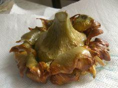 Carciofi alla Giuda (artichoke), best in Rome da Giggetto