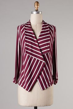 Cardi-Blazer in Burgundy #ShopMCE