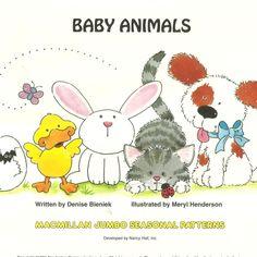Baby Animals MacMillan Jumbo Seasonal Pattern Pack Work Sheets Nancy Hall New  #MacMillan #WorkSheets