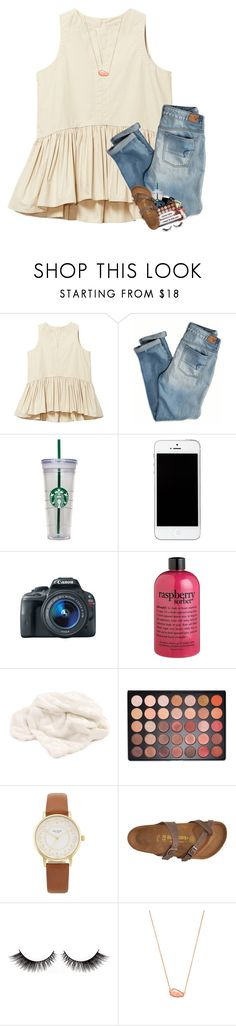 """""""2 hour delay today !!"""" by sanddollars ❤ liked on Polyvore featuring American Eagle Outfitters, WALL, Eos, philosophy, Howard Elliott, Morphe, Kate Spade, Birkenstock, Cotton Candy and Kendra Scott"""