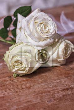 Carta da parati Rose bianche