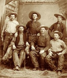 """One Riot, One Ranger""- The Texas Rangers of the Old West still operate today, and are the oldest state law enforcement agency in the US, having been formed in 1835 Real Cowboys, Cowboys And Indians, Western Photo, Western Art, Western Cowboy, John Blake, Westerns, Billy The Kid, Old West Photos"