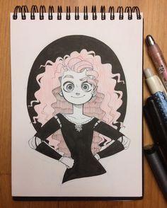 chihirohowe: Day 5 of #inktober ! Merida from Pixar's Brave.
