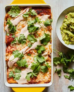 Bean and Cheese Enchiladas - What's Gaby Cooking Mexican Food Recipes, Vegetarian Recipes, Cooking Recipes, Healthy Recipes, Mexican Entrees, Mexican Dishes, Bean And Cheese Enchiladas, Tofu, Appetizer Recipes