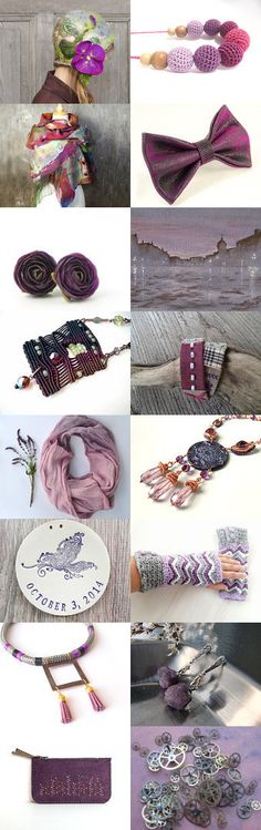 Amazing purples by Agnieszka on Etsy--Pinned with TreasuryPin.com