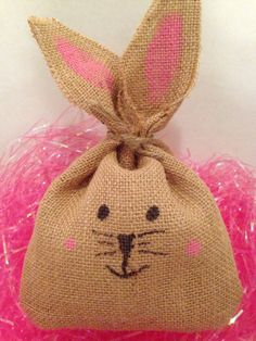 Easter bunny burlap bunny Easter decor hostess by FunWithWreaths