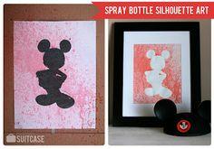 spray bottle silhouette art! Super cute!