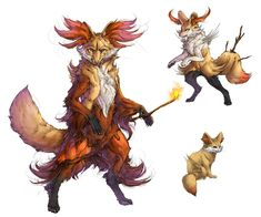 Realistic Pokemon: Fennekin Evolution Line by ReneCampbellArt.deviantart.com on @deviantART