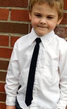 Black Skinny Tie  Infant Toddler Boys by kellybowbelly on Etsy, $16.00