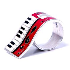 Piano spirits. Silver ring in the technique of hot enamel cloisonne art. #cloisonne #enamel #handmade #handcrafted #makingjewelry