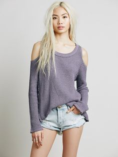 Free People Sunset Open Shoulder Pullover at Free People Clothing Boutique