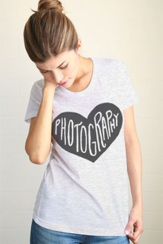 Photography Heart Women Tee