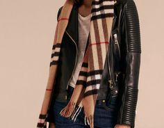 Shop the complete collection of women's scarves from Burberry. London School Of Economics, Cashmere Scarf, Womens Scarves, Plaid Scarf, Winter Outfits, Burberry, Bomber Jacket, Coat, My Style