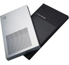 Title: Clamshell and slipcase set Client: Ubuntu Materials: Aluminium, paper, 1500mic board Processes: Etch, foil block, vac form