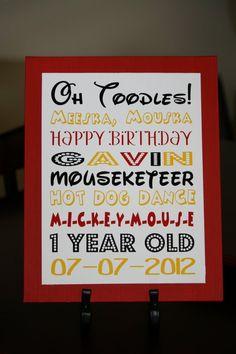 Mickey Party/Braylen's 1st bday idea!