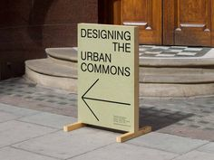 Exhibition design for 'Designing the urban commons', a competition calling for new ways to stimulate London's common urban spaces. Design by Villalba Lawson. Signage Display, Retail Signage, Signage Design, Banner Design, Exhibition Display, Exhibition Space, Environmental Graphics, Environmental Design, Tumblr