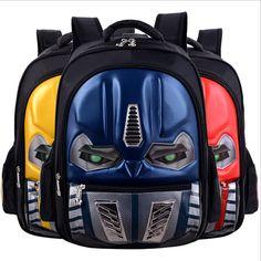 fedf3df4f1f3 2017 New Mochila Escolar 3D Cartoon School Backpacks For Boys Bag Children  Student Softback Cartoon Schoolbag