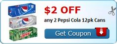 New Coupon!  $2.00 off any 2 Pepsi Cola 12pk Cans - http://www.stacyssavings.com/new-coupon-2-00-off-any-2-pepsi-cola-12pk-cans/