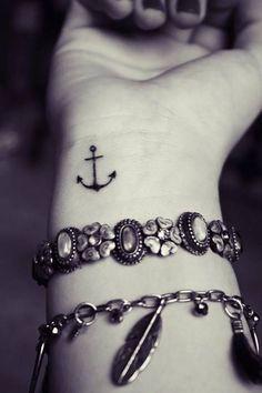 2017 trend Friend Tattoos - anchor tattoo on wrist... Check more at http://tattooviral.com/friend-tattoos/friend-tattoos-anchor-tattoo-on-wrist/