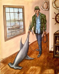 """""""Y'all know me, know how I earn a livin'. light housekeeping and shark'n"""". Robert Shaw was at least of jaws. Jaws Movie, Jaws 2, Hammerhead Shark, Pencil Portrait, Doodle Drawings, Classic Films, My Favorite Part, Under The Sea, Unique Art"""