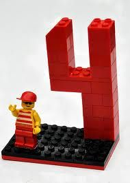 # Decor for Lego party / :) heck, I know adults who'd enjoy seeing double digit Legos set up at their party!