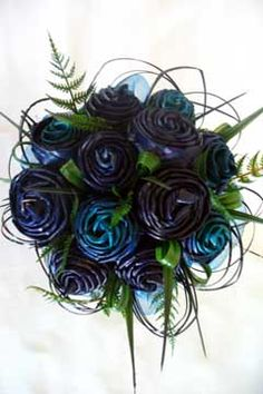 Gorgeous dyed flax bouquets!
