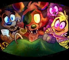 It might actually have been awesome to become an anima-tronic. Like seriously, Freddy, Foxy, Chica, and Bonnie would actually be nice to you!