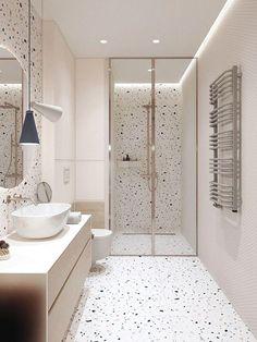 Modern Small Bathrooms, Dream Bathrooms, Beautiful Bathrooms, Master Bathrooms, Girl Bathrooms, Simple Bathroom, Cool Bathroom Ideas, Small Bathroom Ideas, Small Shower Room