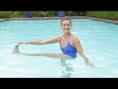 Fitness Workout For Beginners – Burn Fat & Build Muscle Anywhere Pool Workout For Abs, Water Aerobics Workout, Water Aerobic Exercises, Swimming Pool Exercises, Flat Belly Workout, Belly Exercises, Water Workouts, Workout Fitness, Exercise Workouts