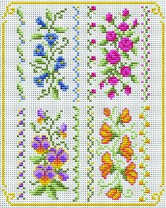 Rose and pansy border nice