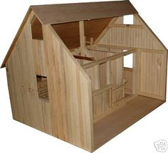 Wooden Barn Stable Perfect for Your Breyer Horses | eBay