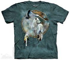Wolf Spirit Shield - Adult Tshirt