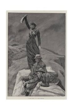 size: Giclee Print: On the Summit by Richard Caton Woodville II : Cairns, Photo Vintage, Rando, Mountaineering, Rock Climbing, Travel Posters, Find Art, Framed Artwork, Poster Size Prints