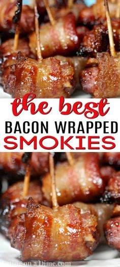 BACON WRAPPED LITTLE SMOKIES RECIPE - - Everyone loves this really easy appetizer recipe. This quick and easy Bacon wrapped little smokies recipe is the best and the perfect football appetizer. Best Appetizer Recipes, Yummy Appetizers, Bacon Wrapped Appetizers, Quick And Easy Appetizers, Appetizer Ideas, Dinner Recipes, Little Smokies Recipes, Recipe For Bacon Wrapped Little Smokies, Appetizers