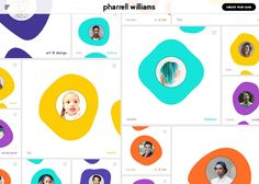 I am a fan of the way that this site presents information in a unique and visually interesting way. The colours around the portraits work to give the users insight into different projects filtered by separate colours for different areas. I feel like something like this could be utilised to organise my design.