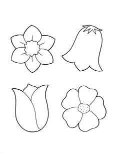 çiçek Kalıbı Boyama Sayfaları Omalovánky Flower Template