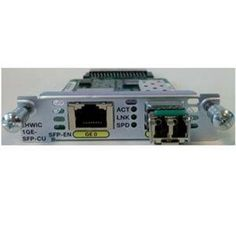 Cisco EHWIC-1GE-SFP-CU= EHWIC 1 port dual mode Spare by Cisco. $566.06. The Cisco Gigabit Ethernet WAN EHWIC (EHWIC-1GE-SFP-CU) is an enhanced high-speed interface card providing copper and optical Gigabit Ethernet ports and connectivity of T1/E1 and T3/E3 over copper for Cisco ISR. The Cisco Gigabit Ethernet enhanced high-speed WAN interface card provides copper and optical Gigabit Ethernet connectivity through a dual-purpose uplink (DPU). Manufacturer:  Cisc...