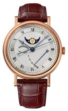 Breguet 7787BR/12/9V6 Classique Moon Phase Power Reserve. #Breguet - золотые - швейцарские мужские наручные часы
