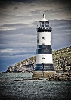 Penmon Point Lighthouse Trwyn, Isle of Anglesey, Wales.