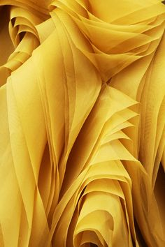 Ribbons Of Bright Yellow Fabric