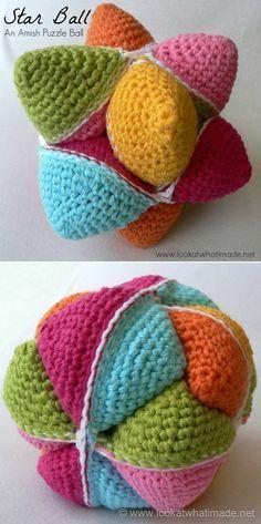 Balle de préhension faite au crochet - tutoriel en français ici : http://lilou34.over-blog.net/2015/05/balle-de-prehension-modele-gratuit.html