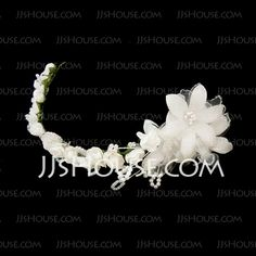 Accessoires de coiffure - $9.99 - Belle Perle Satiné Papier Fleurs Bandeaux (042026414) http://jjshouse.com/fr/Belle-Perle-Satine-Papier-Fleurs-Bandeaux-042026414-g26414