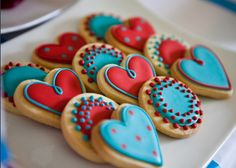 Pretty cookies from Nelle Cakes in Cape Town Valentine's Day Sugar Cookies, Fancy Cookies, Cut Out Cookies, Iced Cookies, Mini Cookies, Cookie Time, Cupcakes, Cupcake Cookies, Valentines Day Cakes