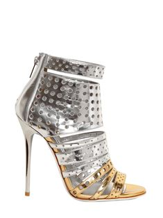 78a7589de00 Jimmy Choo Tessa 100 Metallic Leather Ankle Boots