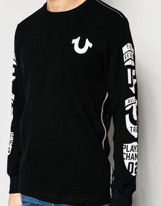 Image 3 - True Religion - Pull avec logo en maille gaufrée