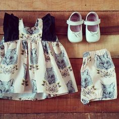 @cottontail.nz - A fox Ruffle Top and Bloomer set that I sent out earlier this week.  Such a lovely combination!!!